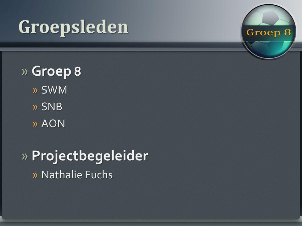» Groep 8 » SWM » SNB » AON » Projectbegeleider » Nathalie Fuchs