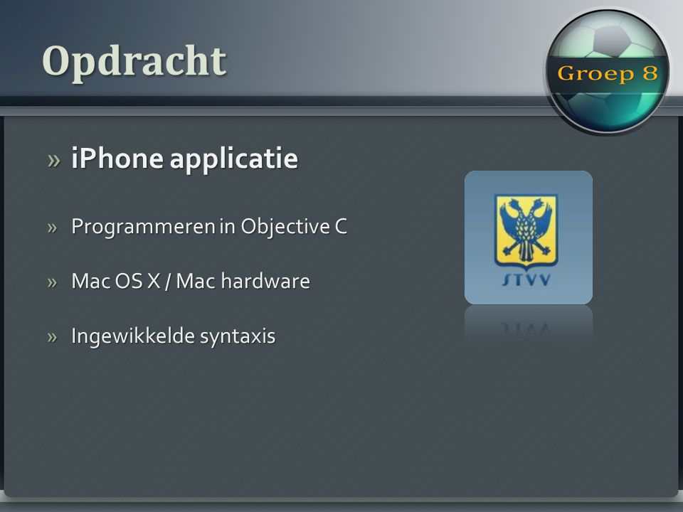 »iPhone applicatie »Programmeren in Objective C »Mac OS X / Mac hardware »Ingewikkelde syntaxis