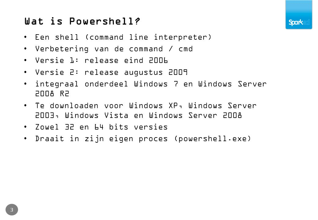 Wat is Powershell.