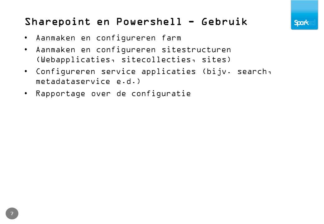Defensief programmeren 18 trap [Exception] { write-host $( TRAPPED: + $_.Exception.GetType().FullName); write-host $( TRAPPED: + $_.Exception.Message); continue; } Start-Transcript -path install-log.txt Write-Host Configure search Configure-Search Write-Host Registering Content Type Hub subscriptions Subscribe-ContentTypes Write-Host Preparing to create Audiences Create-Audiences Stop-Transcript