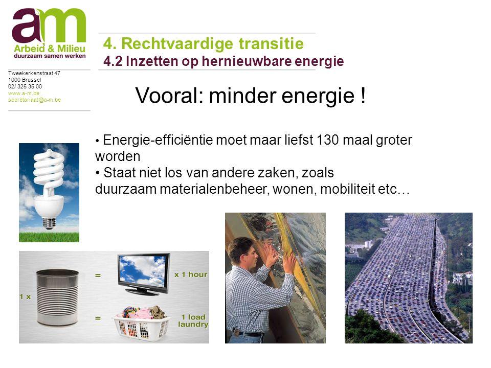 4. Rechtvaardige transitie 4.2 Inzetten op hernieuwbare energie Tweekerkenstraat 47 1000 Brussel 02/ 325 35 00 www.a-m.be secretariaat@a-m.be Energie-
