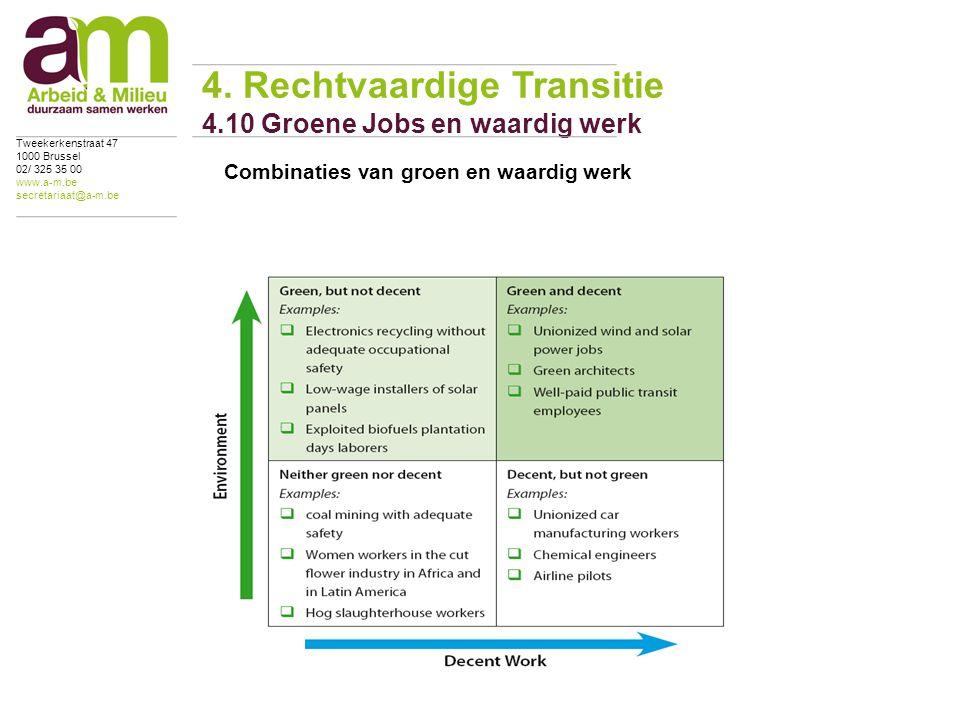 Combinaties van groen en waardig werk 4.