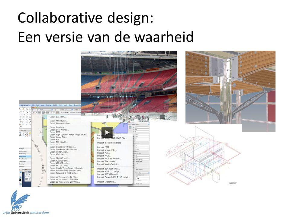 Collaborative design: Een versie van de waarheid