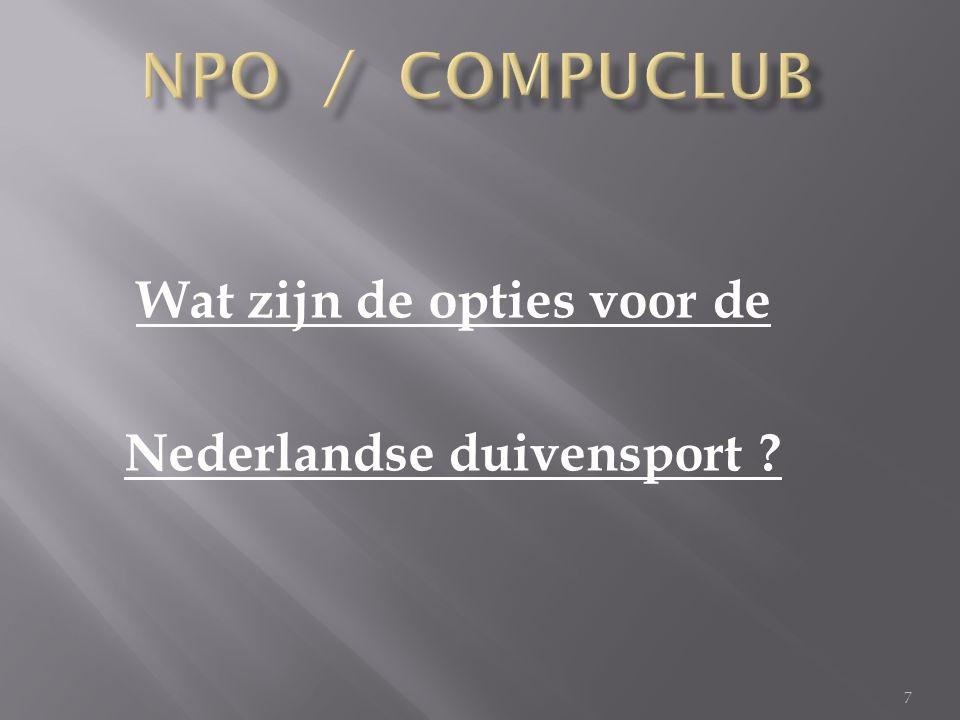 7 Wat zijn de opties voor de Nederlandse duivensport