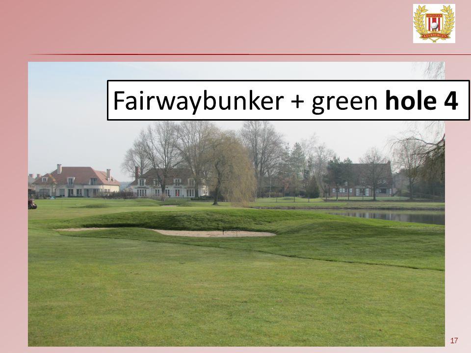 17 Fairwaybunker + green hole 4