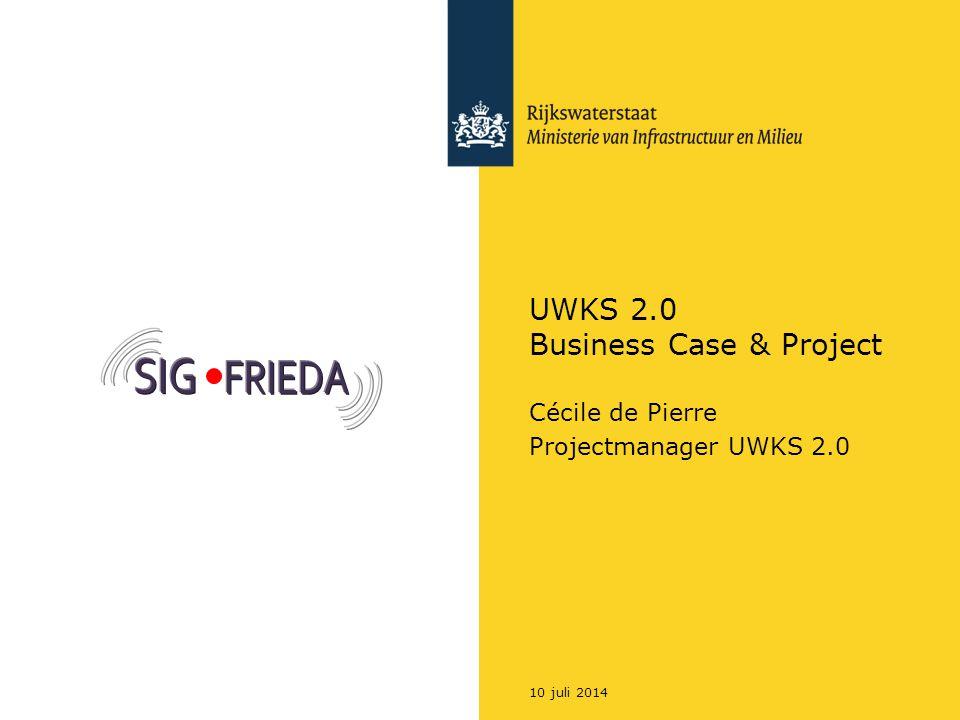 Rijkswaterstaat Onderwerpen Scope (U)WKS Business Case Marktbenaderings-strategie Systeemintegratie strategie Project UWKS: wat gaan we doen.