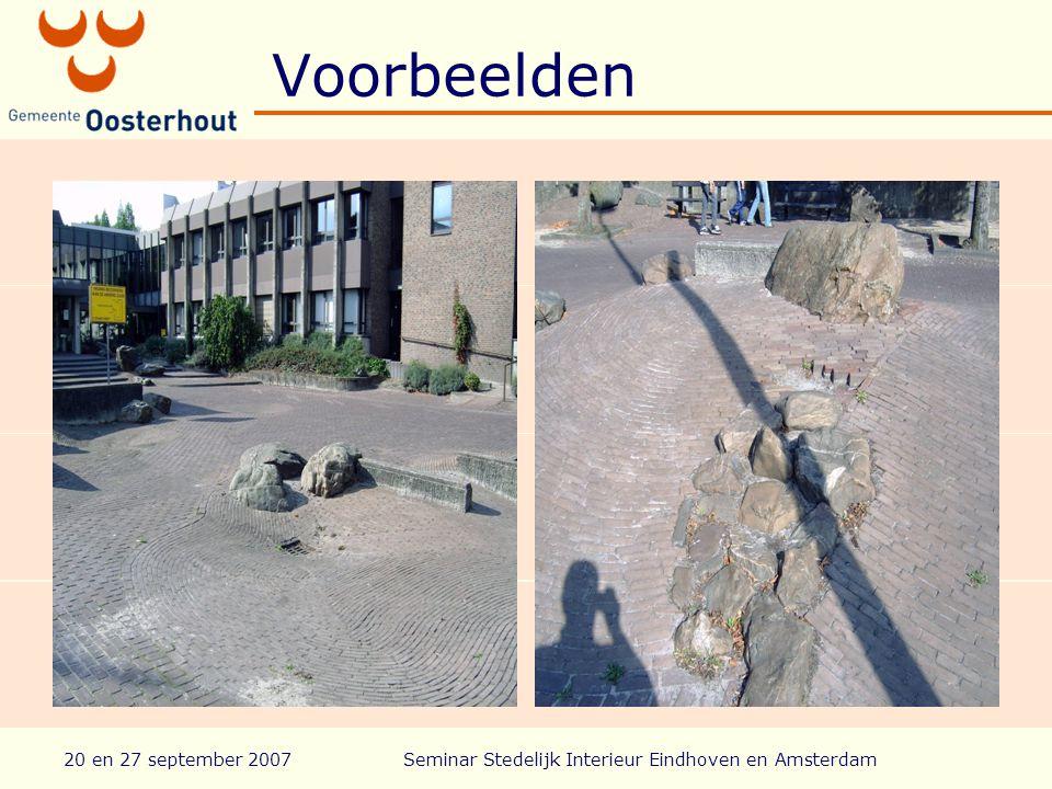 20 en 27 september 2007Seminar Stedelijk Interieur Eindhoven en Amsterdam