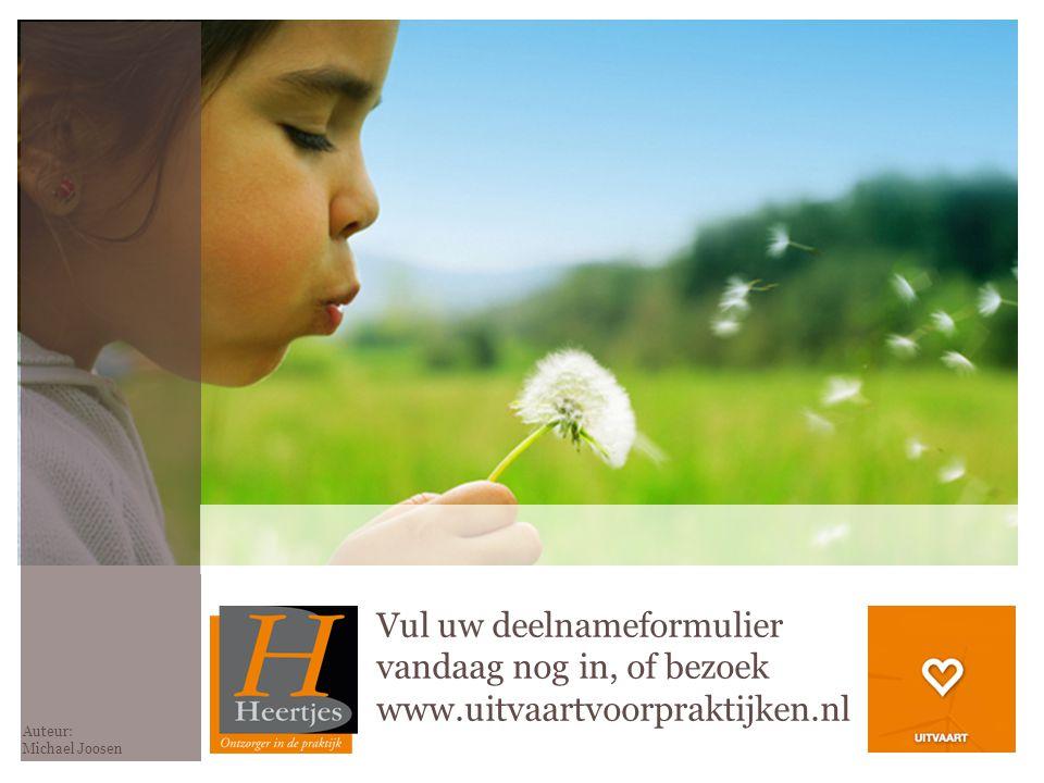 Vul uw deelnameformulier vandaag nog in, of bezoek www.uitvaartvoorpraktijken.nl Auteur: Michael Joosen