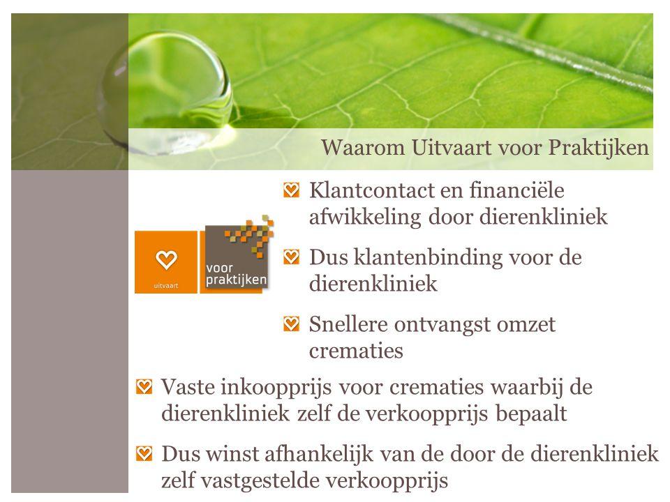 Afvoer destructiematerialen gratis bij een crematierit Alleen bij Uitvaart voor Praktijken: Ziekenhuisafval vat 50 liter afvoer €25,- excl.