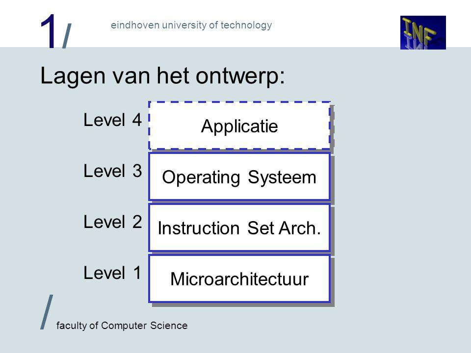 1/1/ / faculty of Computer Science eindhoven university of technology Directory administratie: Een directory (map) is in feite gewoon een file dat administratie van andere files bevat.