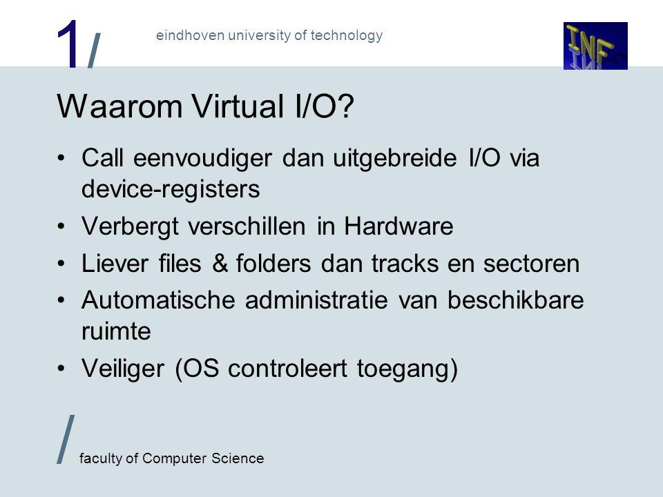 1/1/ / faculty of Computer Science eindhoven university of technology Organisatie van een Disc: FloppyHD