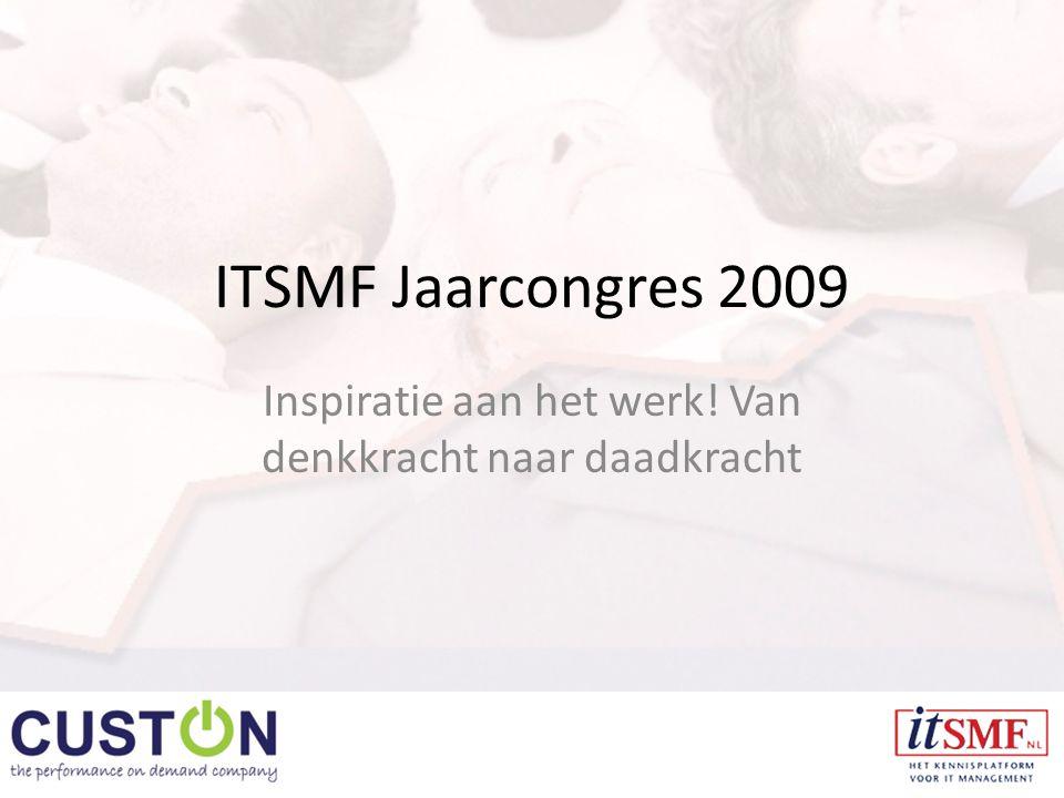 ITSMF Jaarcongres 2009 Inspiratie aan het werk! Van denkkracht naar daadkracht