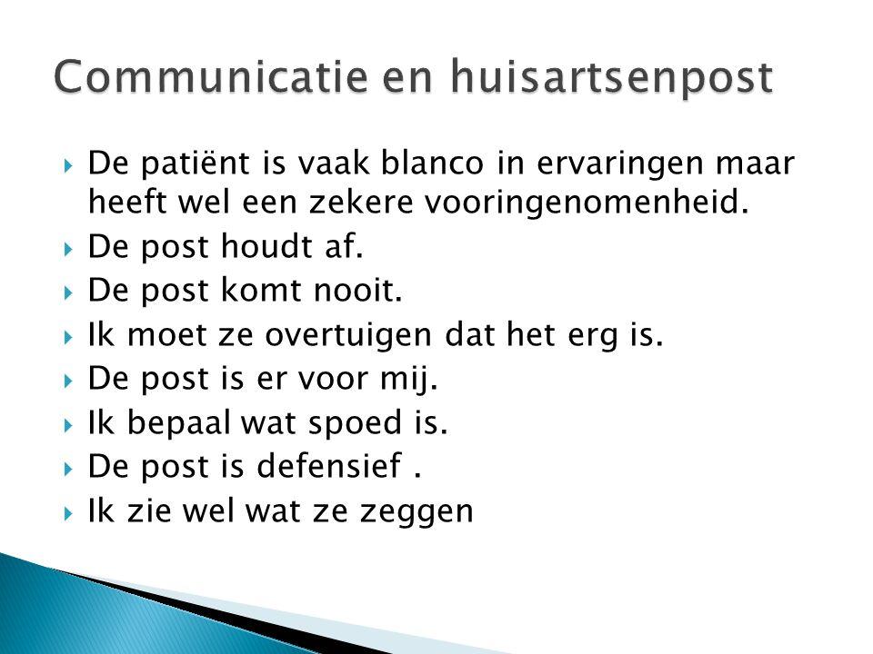  De patiënt kent de praktijk en heeft over het algemeen een positief beeld van de assistente en de arts.