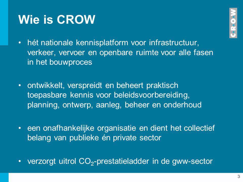 3 hét nationale kennisplatform voor infrastructuur, verkeer, vervoer en openbare ruimte voor alle fasen in het bouwproces ontwikkelt, verspreidt en be