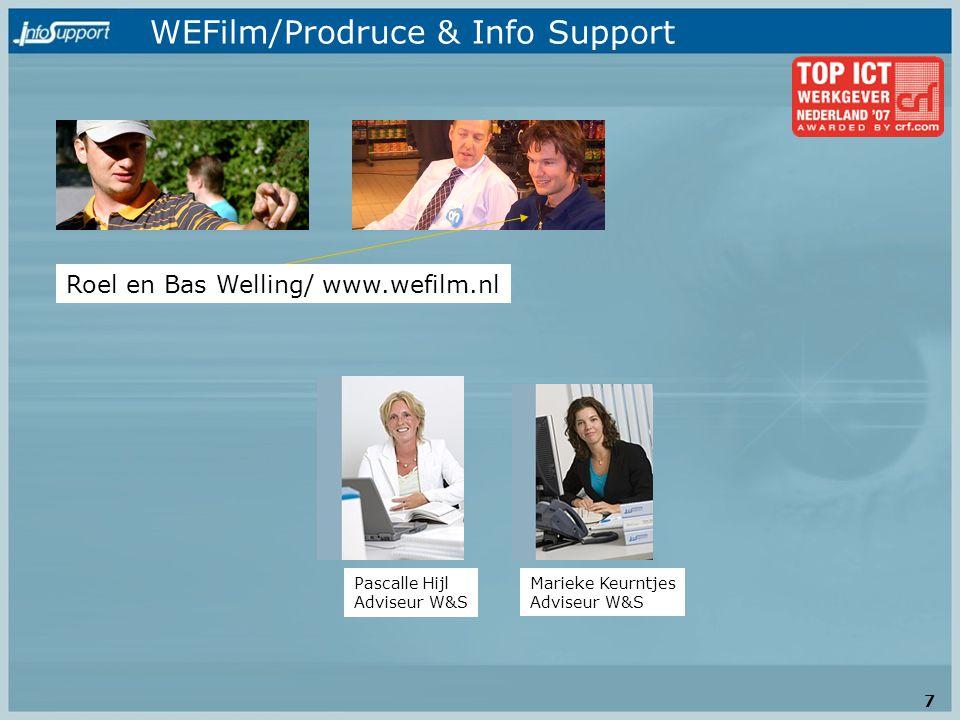 WEFilm/Prodruce & Info Support Roel en Bas Welling/ www.wefilm.nl Pascalle Hijl Adviseur W&S Marieke Keurntjes Adviseur W&S 7