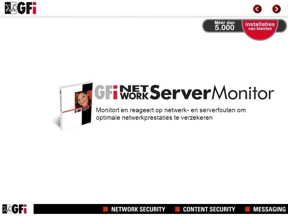 Monitort en reageert op netwerk- en serverfouten om optimale netwerkprestaties te verzekeren