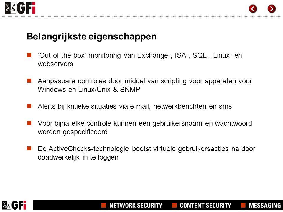 GFI Network Server Monitor manager Snapshot van het product