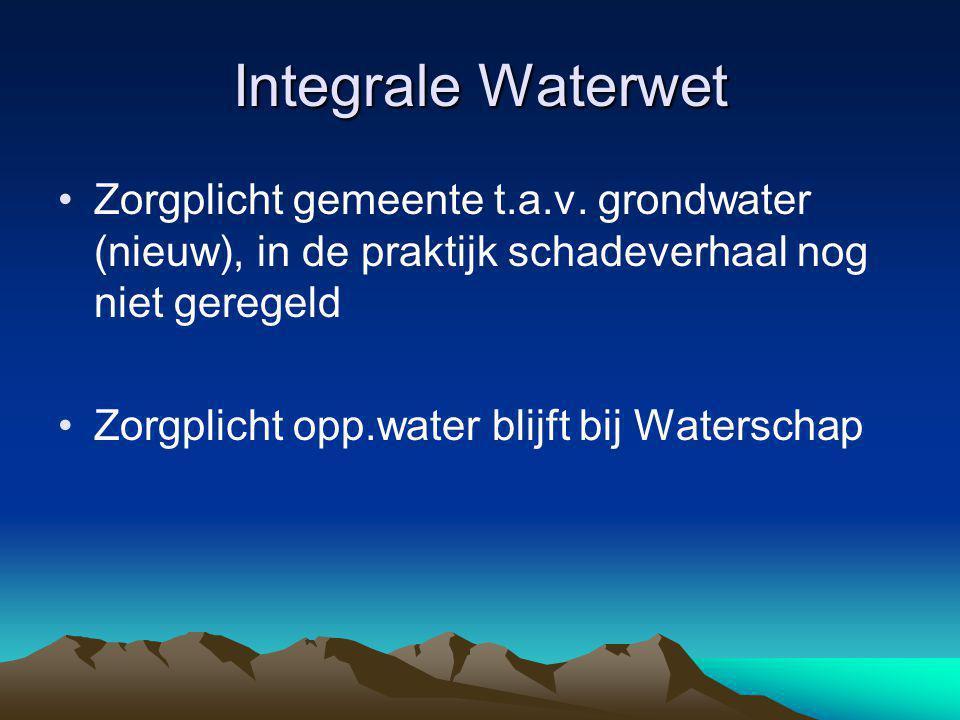 Integrale Waterwet Zorgplicht gemeente t.a.v.