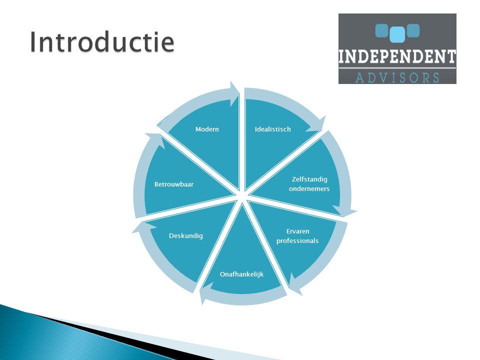 Idealistisch Zelfstandig ondernemers Ervaren professionals Onafhankelijk Deskundig Betrouwbaar Modern