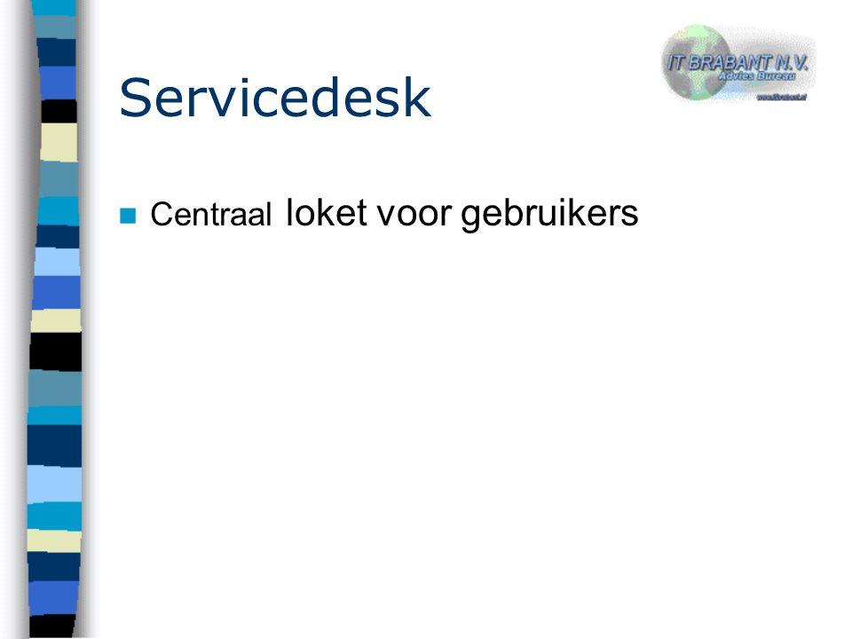 Servicedesk Centraal loket voor gebruikers