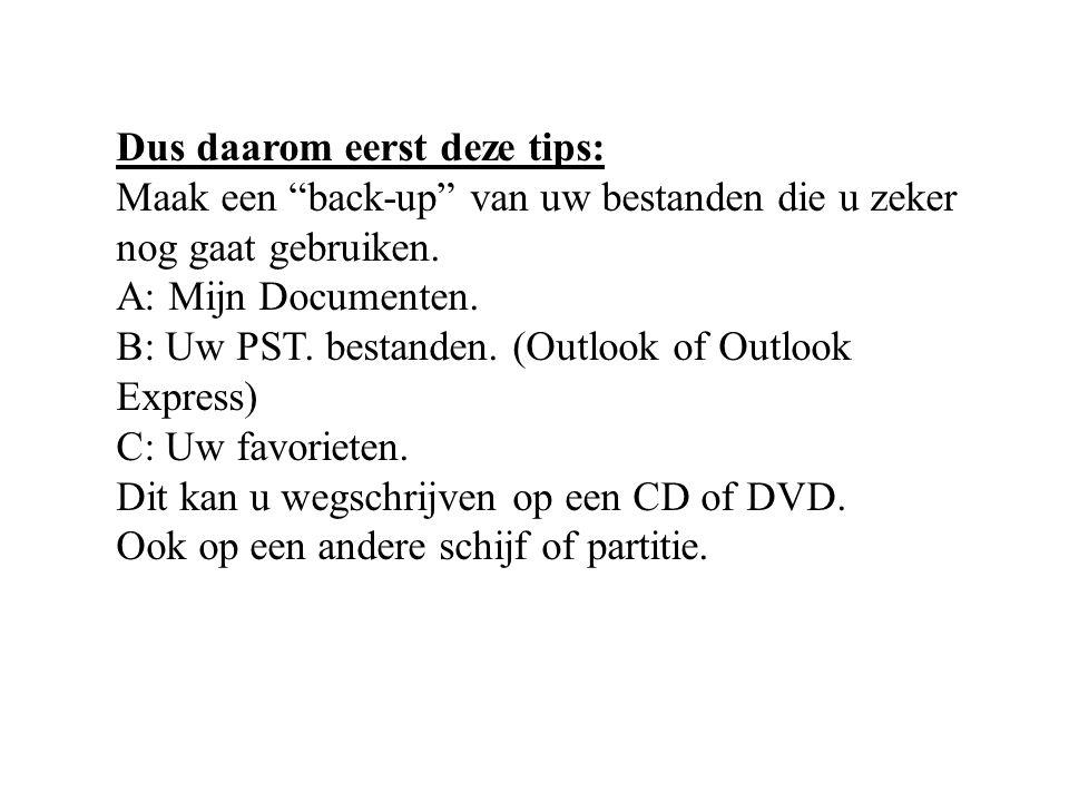 Installeren van het besturingsprogramma Windows XP Volg alle dia's een voor een.