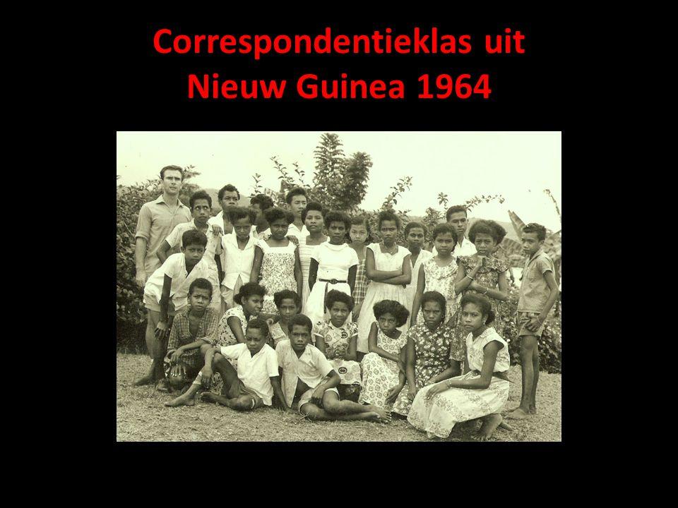 Correspondentieklas uit Nieuw Guinea 1964