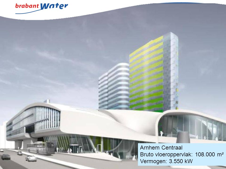Arnhem Centraal Bruto vloeroppervlak: 108.000 m² Vermogen: 3.550 kW