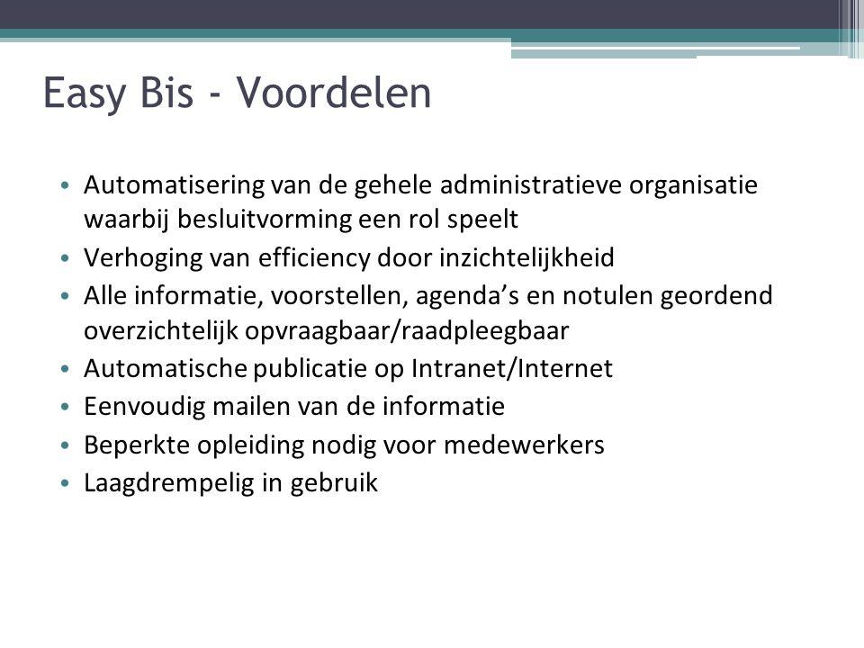 Easy Bis - Usermodule Aanmaken van  Nota's, voorstellen;  Toevoegen van derden documenten.