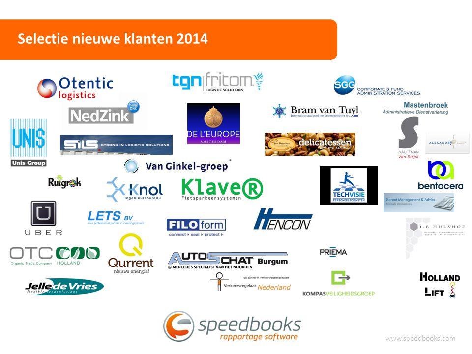 Selectie nieuwe klanten 2014 www.speedbooks.com