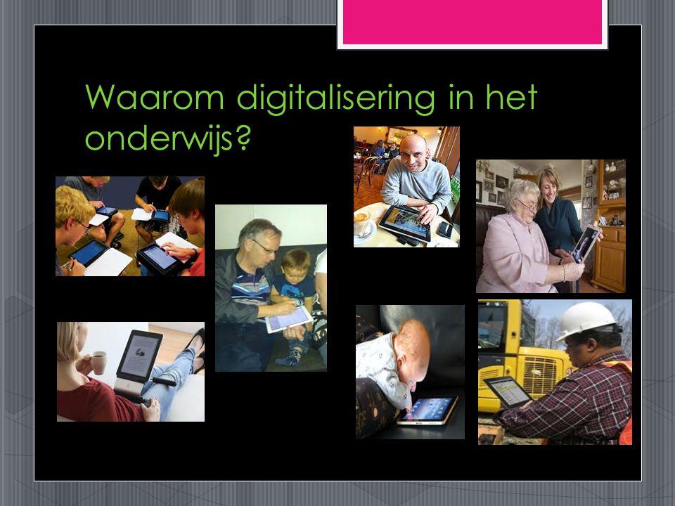 Waarom digitalisering in het onderwijs?