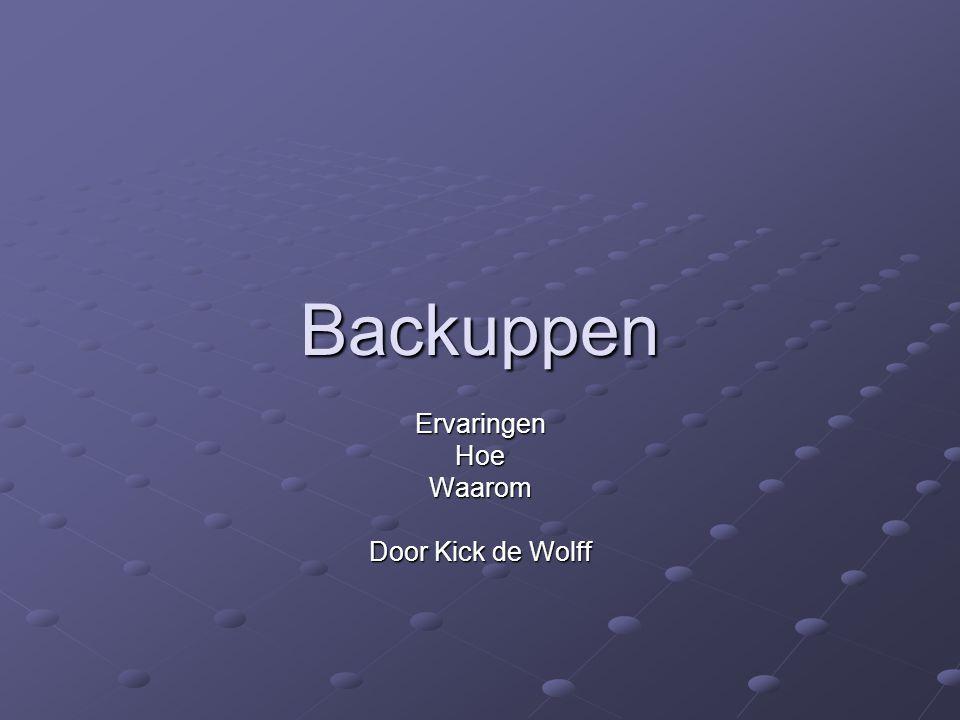 Backuppen ErvaringenHoeWaarom Door Kick de Wolff