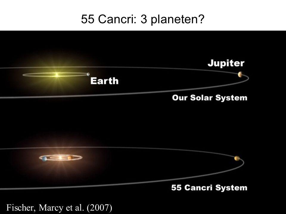 HOVO 55 Cancri: 3 planeten? Fischer, Marcy et al. (2007)