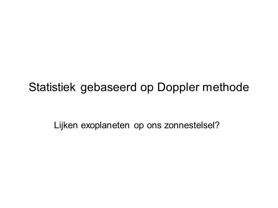 HOVO Statistiek gebaseerd op Doppler methode Lijken exoplaneten op ons zonnestelsel?