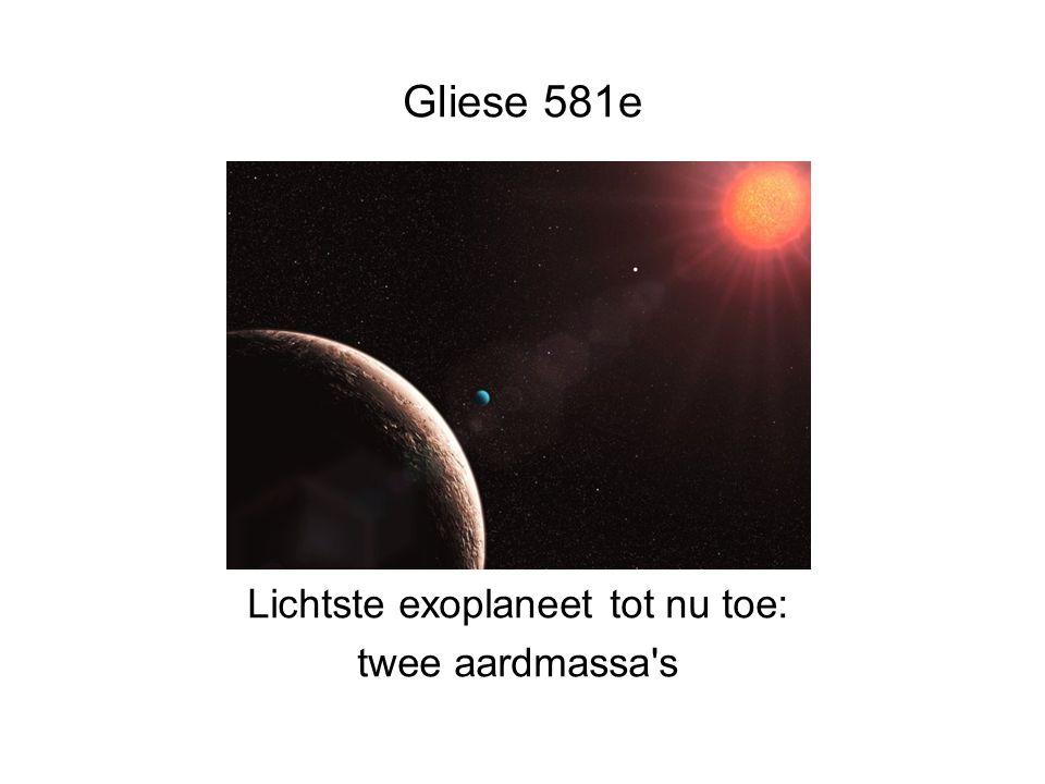 4e Gymnasium, Amsterdam Gliese 581e Lichtste exoplaneet tot nu toe: twee aardmassa s