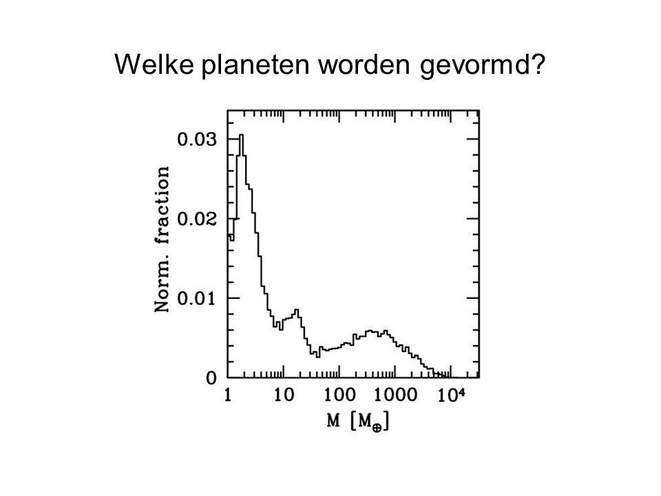 4e Gymnasium, Amsterdam Welke planeten worden gevormd?