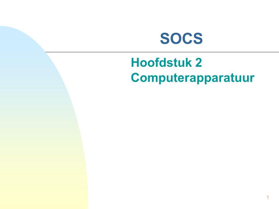 1 SOCS Hoofdstuk 2 Computerapparatuur