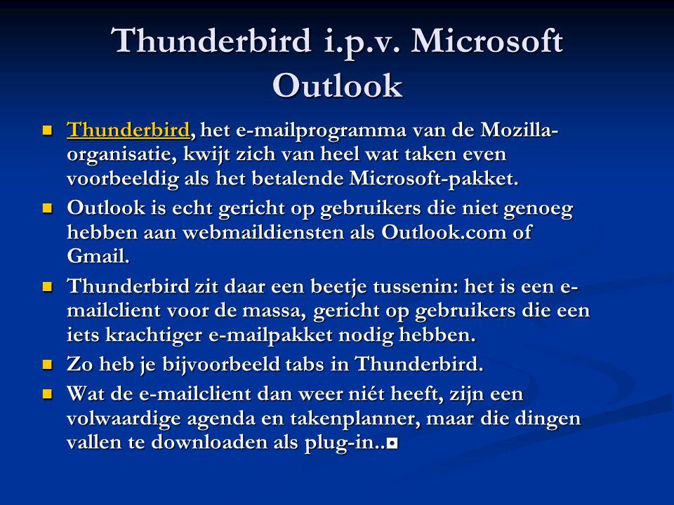 Thunderbird i.p.v.