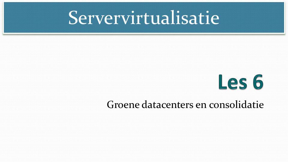 Servervirtualisatie Groene datacenters en consolidatie