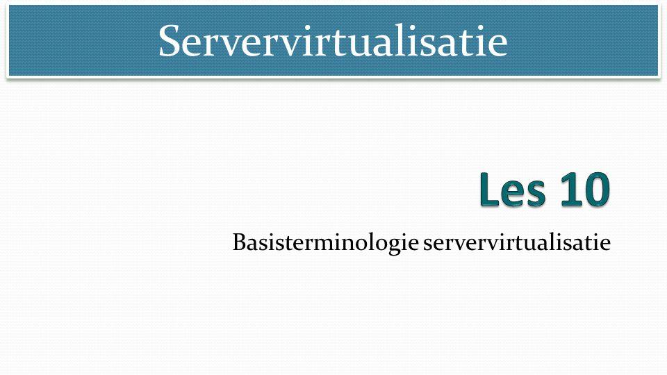 Servervirtualisatie Basisterminologie servervirtualisatie