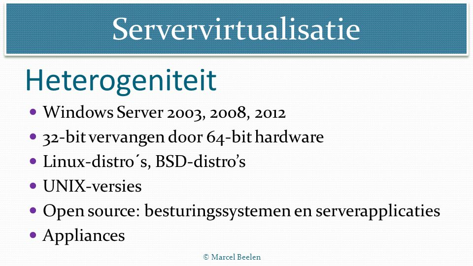 Servervirtualisatie High availability en scalability