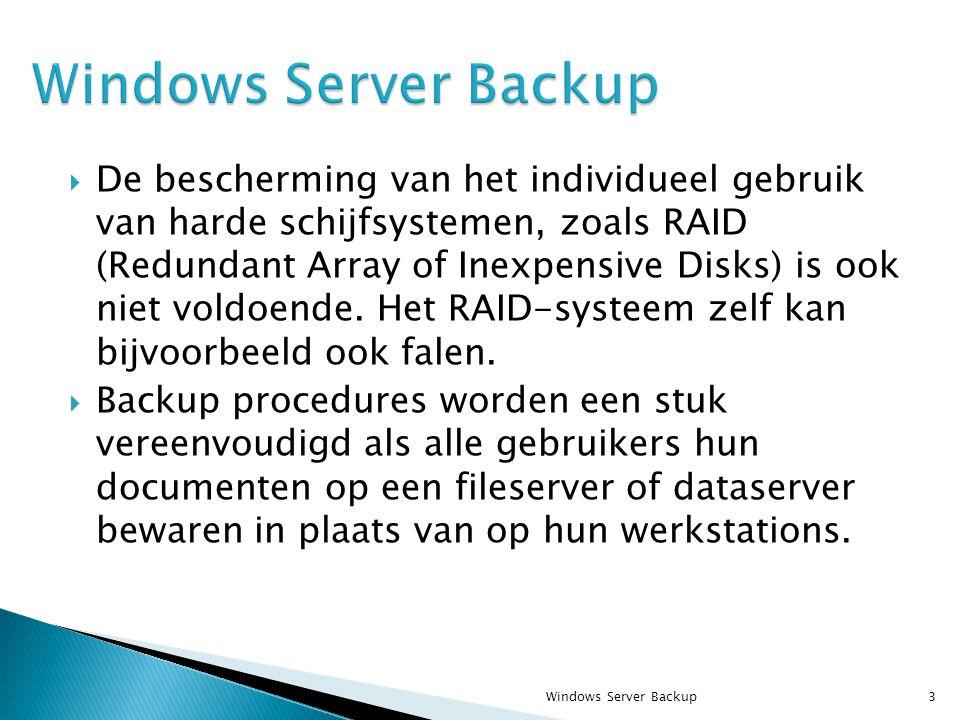  De bescherming van het individueel gebruik van harde schijfsystemen, zoals RAID (Redundant Array of Inexpensive Disks) is ook niet voldoende.