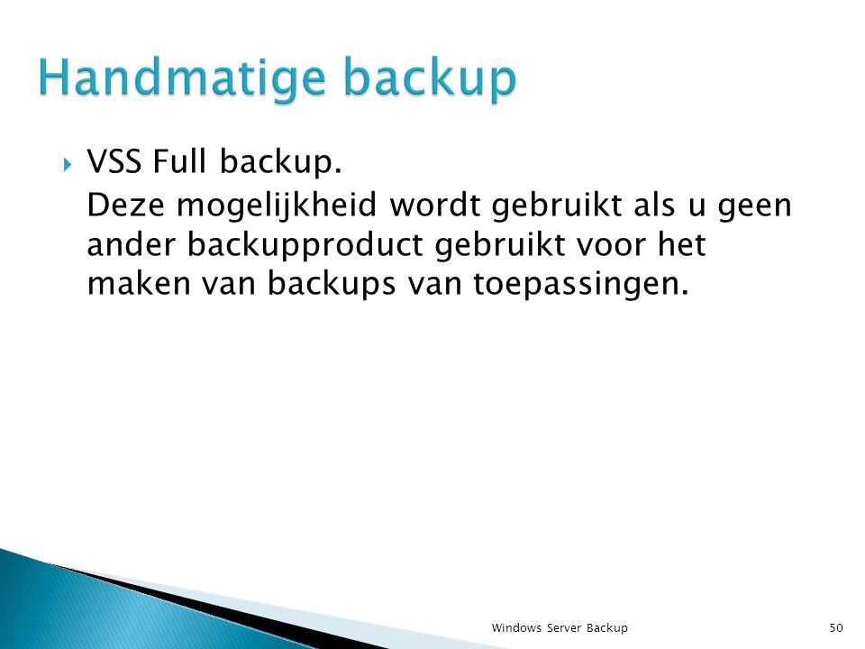  VSS Full backup.