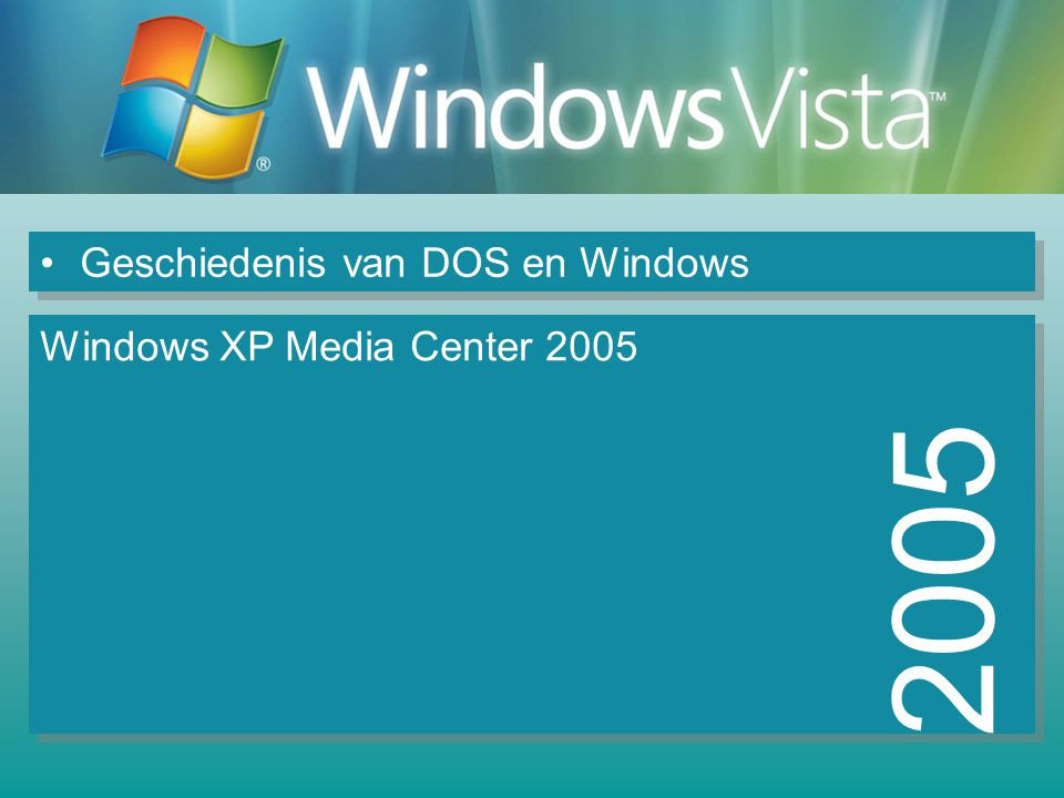 Geschiedenis van DOS en Windows 2005 Windows XP Media Center 2005