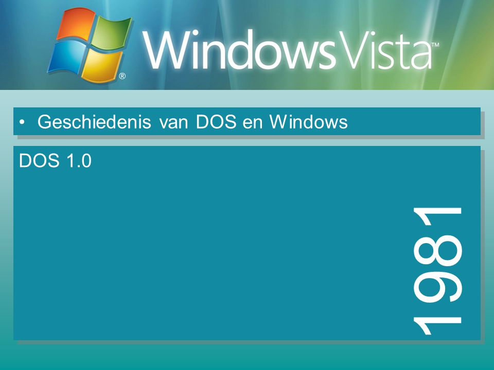 Geschiedenis van DOS en Windows 1982 DOS 1.1 DOS 1.25 DOS 2.0 Ondersteuning harde schijven
