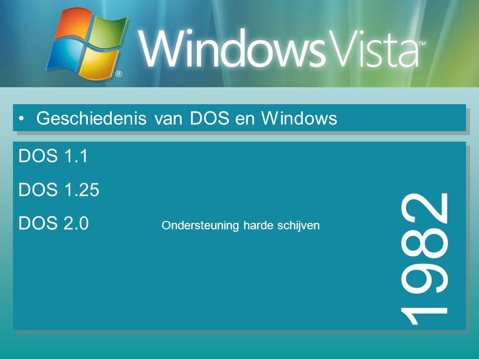 Geschiedenis van DOS en Windows 2003 Windows Server 2003 NT 5.21 / XP Servereditie 6 versies Windows XP Media center DirectX 9.0a en 9.0b