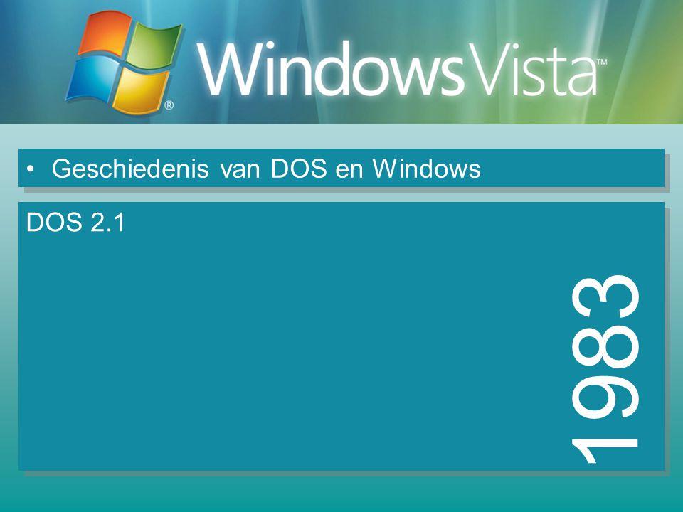 Geschiedenis van DOS en Windows 1984 DOS 3.0 Ondersteuning voor netwerken