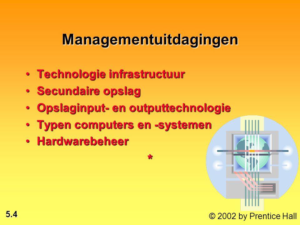 5.5 © 2002 by Prentice Hall Managementuitdagingen 1.