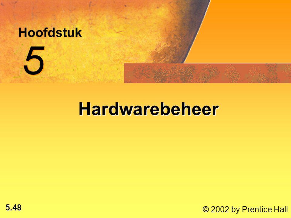 5.48 © 2002 by Prentice Hall Hoofdstuk 5 5 Hardwarebeheer
