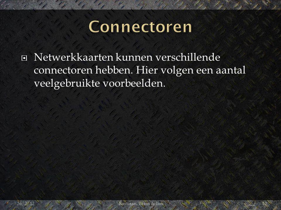  Netwerkkaarten kunnen verschillende connectoren hebben.