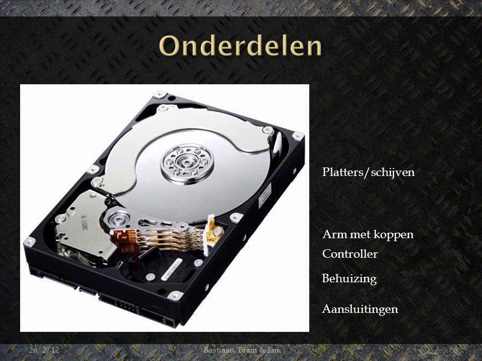 26/2/12Bastiaan, Bram & Ian5 Platters/schijven Arm met koppen Controller Behuizing Aansluitingen